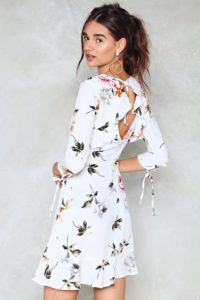 White Summer Dress With Flowers